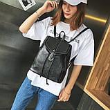 Потрясающая сумка-рюкзак Черного цвета с текстурой под кожу, фото 3