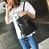 Потрясающая сумка-рюкзак Черного цвета с текстурой под кожу, фото 4