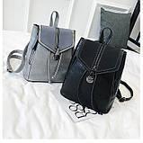 Потрясающая сумка-рюкзак Черного цвета с текстурой под кожу, фото 5