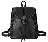 Потрясающая сумка-рюкзак Черного цвета с текстурой под кожу, фото 6