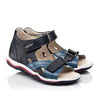 Спортивные кожаные босоножки для мальчика Woopy 5155.р25-36