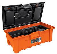 Кейс для інструментів, Extra-Wide помаранчевий з органайзером 560х320х2870 2,2 кг
