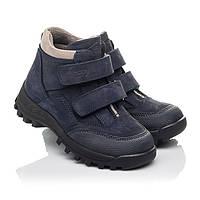 Ботинки детские деми ,нубуковые,темно-синие,подкладка флис ,на липучках.Турция.Woopy 5051/р28-38