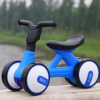 Детский мотоцикл каталка-толокар Bambi M 4086-4 музыка свет синий