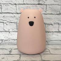 Силиконовый сенсорный ночник Led Медвежонок (розовый)