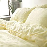 """Комплект льняного постельного белья """"Ванильный шампань"""" №1403, Лен 100%"""