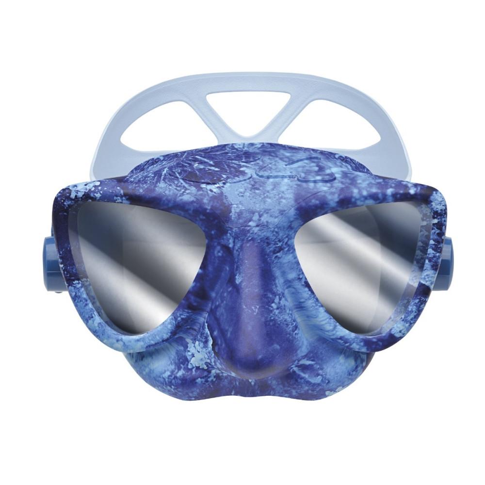Маска С4 PLASMA ocean camo, зеркальная (силикон, стекло)