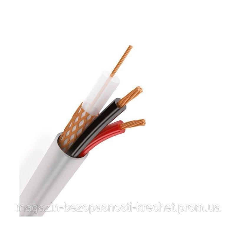 Коаксиальный кабель Одескабель КВК-В-2+2х0,5 (RG-59+2*0.44 mm.) Медь внутренний