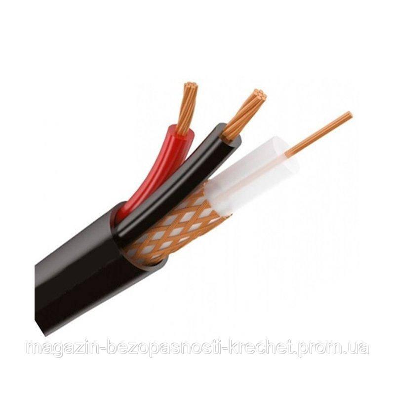 Коаксиальный кабель Одескабель КВК-П-2+2х0,5 (RG-59+2*0,44mm,) Медь наружный