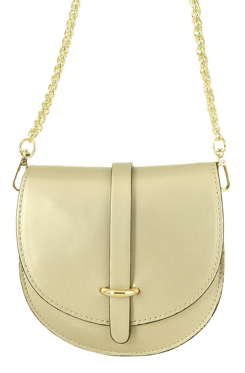 Женская кожаная сумка OFRA Diva's Bag цвет золотой