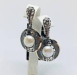 Серьги в серебре с золотом и жемчугом Аглая, фото 2