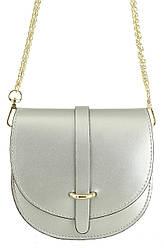 Жіноча шкіряна сумка OFRA diva's Bag колір срібний