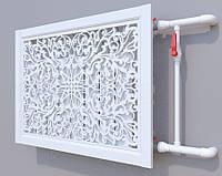 Декоративная решетка на батарею SMARTWOOD | Экран для радиатора | Накладка на батарею 600*600