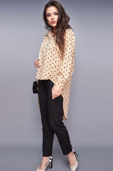 Костюм-двойка женский с блузкой и брюками большой размер 50-56