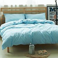 Комплект льняного постельного белья, Голубой №1347, Лен 100%