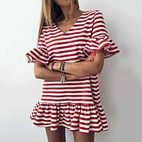 Платье молодежное стильное для девушек в полоску размер42-48,цвет уточняйте при заказе