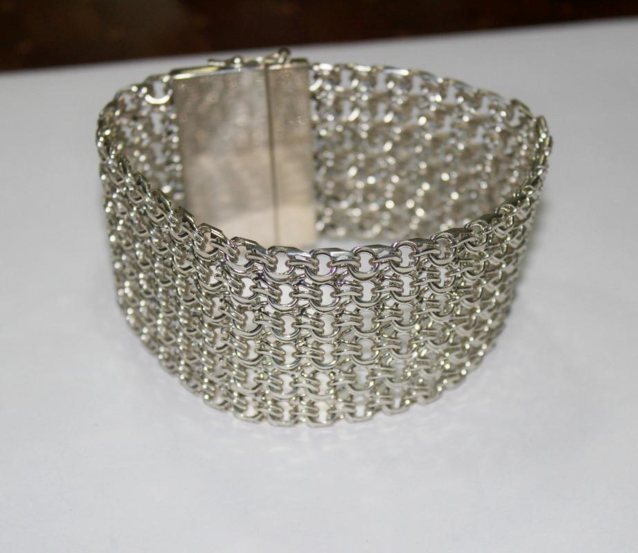 Браслет-кольчуга из серебра Тристан
