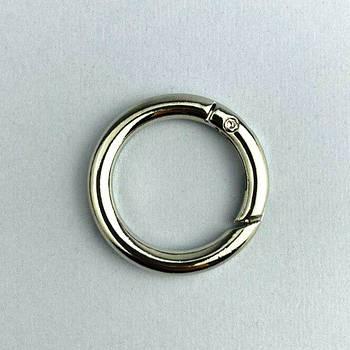 Кольцо-карабин Ø 3,5 см Серебро