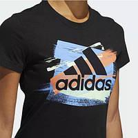 Жіночі футболки Adidas Badge of Sport Color Brush, Black