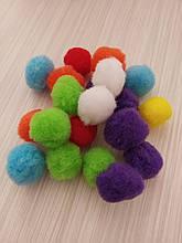 Разноцветные помпоны 25 мм 50 шт