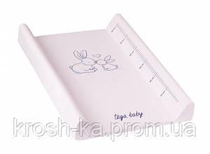 Пеленатор детский Кролики розовый 60см Tega Польша KR-009-104
