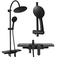 Душевой комплект набор REA VIGO REA-P7001 душевая система стойка, тропический душ (душовий набір)