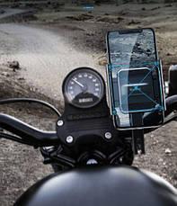 Велотримач телефон Baseus Knight Motorcycle holder Black (CRJBZ-01), фото 2