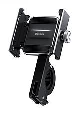 Велотримач телефон Baseus Knight Motorcycle holder Black (CRJBZ-01), фото 3