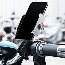 Велотримач телефон Baseus Knight Motorcycle holder Silver (CRJBZ-0S), фото 2
