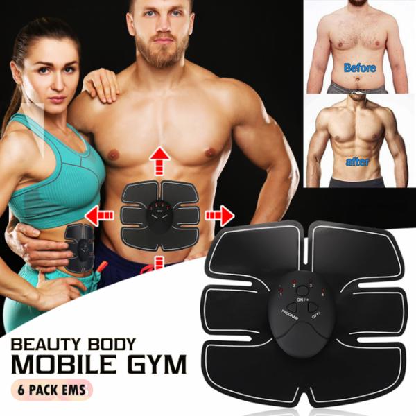 Миостимулятор для подкачки мышц живота | Вибротренажер для пресса | Бабочка Beauty body mobile gym (Реплика)