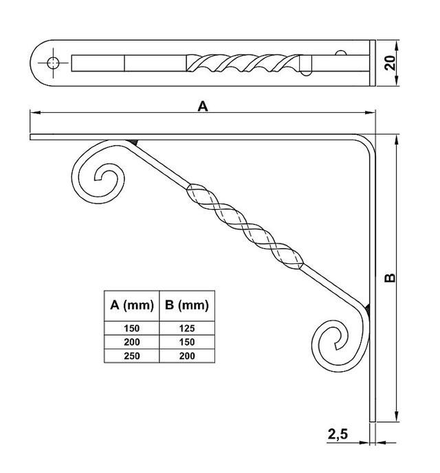Крепкий держатель полок уголок металлический