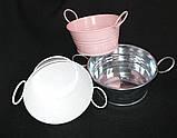 Тазик металлический для декора, выс. 5 см., 40/30 (цена за 1 шт. + 10 гр.), фото 5