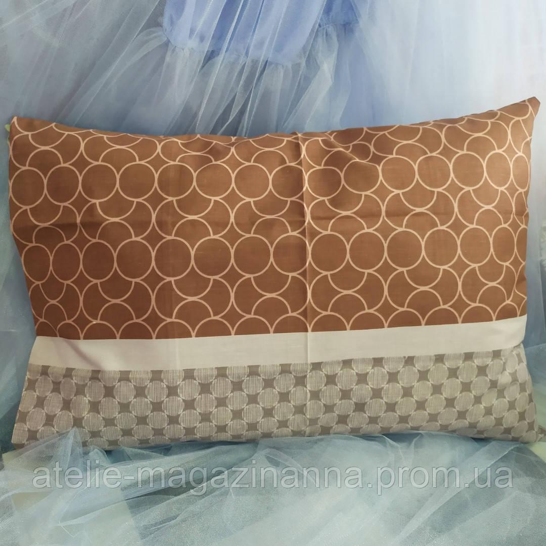 Наволочка на подушку из бязи 50*70 коричневая недорого