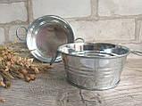 Тазик металлический для декора, выс. 5 см., 40/30 (цена за 1 шт. + 10 гр.), фото 8