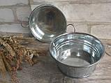 Тазик металлический для декора, выс. 5 см., 40/30 (цена за 1 шт. + 10 гр.), фото 3