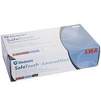 Перчатки нитриловые Medicom 100 шт. черные, L.