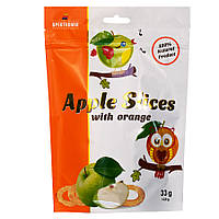 Слайсы яблочные сушеные с апельсином Apple Slices, 33 г