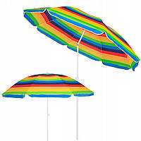 Пляжный зонт с регулируемой высотой и наклоном Springos 180 см BU0009
