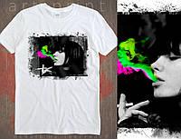 Чоловіча футболка з незвичайним малюнком Smoke, фото 1