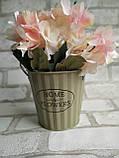 Відро кашпо з металу Home&Flowers, декор, вис. 12 см., діам. 12.5 см., 90/75 (ціна за 1 шт. + 15 гр.), фото 3