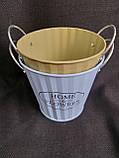 Відро кашпо з металу Home&Flowers, декор, вис. 12 см., діам. 12.5 см., 90/75 (ціна за 1 шт. + 15 гр.), фото 8
