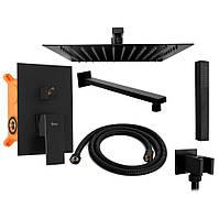 Душевой комплект набор REA FENIX BLACK + BOX REA-P6920 душевая система, тропический душ (душовий набір)