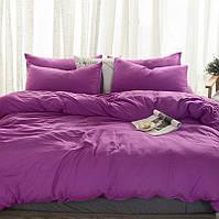 Комплект льняного постельного белья, Сливовый №910, Лен 100%