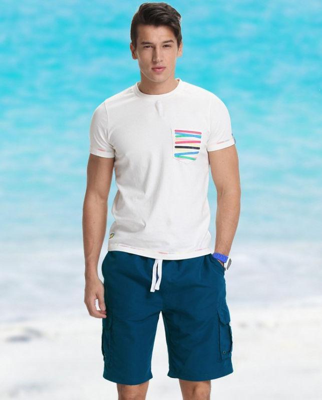 Синие летние шорты с карманом  Gailang