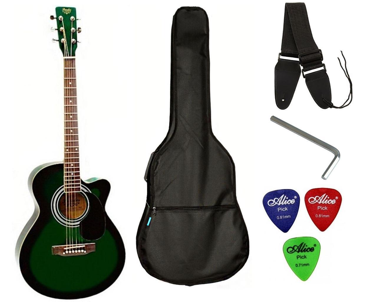 Набор акустическая гитара Bandes AG-831C GL 38+ чехол+ремень