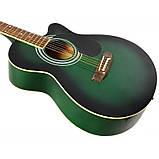 Набор акустическая гитара Bandes AG-831C GL 38+ чехол+ремень, фото 3