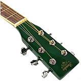 Набор акустическая гитара Bandes AG-831C GL 38+ чехол+ремень, фото 4
