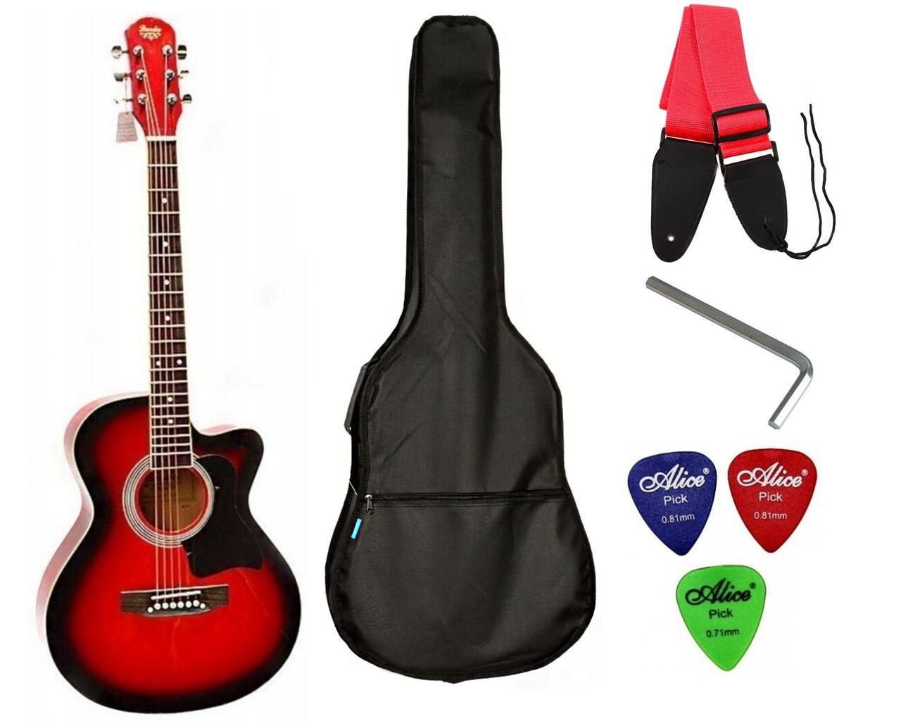 Набір акустична гітара Bandes AG-831C RD 38+ чохол+ремінь