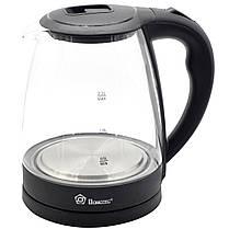 Стеклянный электрически чайник с разноцветной подсветкой на 2,2 литра с потреблением 1,5 Вт Domotec MS 8210, фото 2