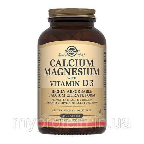 SolgarВитамины и минералыCalcium Magnesium with Vitamin D3150 tab